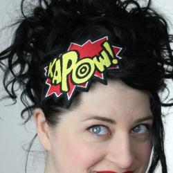 Kapow, Red and Yellow, Comic Headband